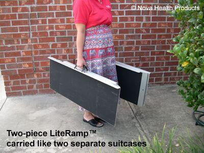 2 portable aluminum wheelchair ramp homeaccessproducts com